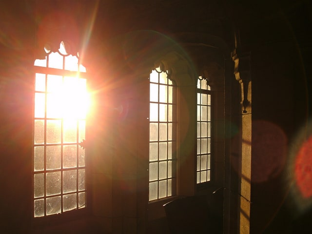 window glare
